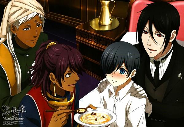 Tags: Anime, A-1 Pictures, Kuroshitsuji, Sebastian Michaelis, Soma Asman Kadar, Agni, Ciel Phantomhive, Indian Clothes, Turban, Soup, Magazine (Source), PASH!, Scan, Black Butler