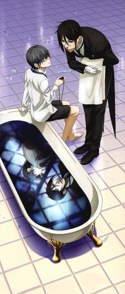 Tags: Anime, Kuroshitsuji, Ciel Phantomhive, Sebastian Michaelis, Scan, Official Art, Black Butler