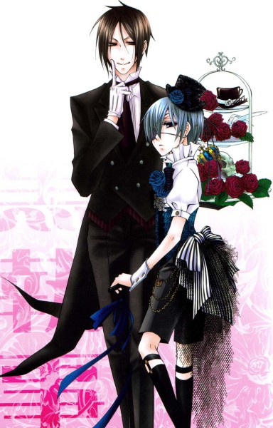 Tags: Anime, Naokichi., Kuroshitsuji, Ciel Phantomhive, Sebastian Michaelis, Mobile Wallpaper, Fanart, Black Butler