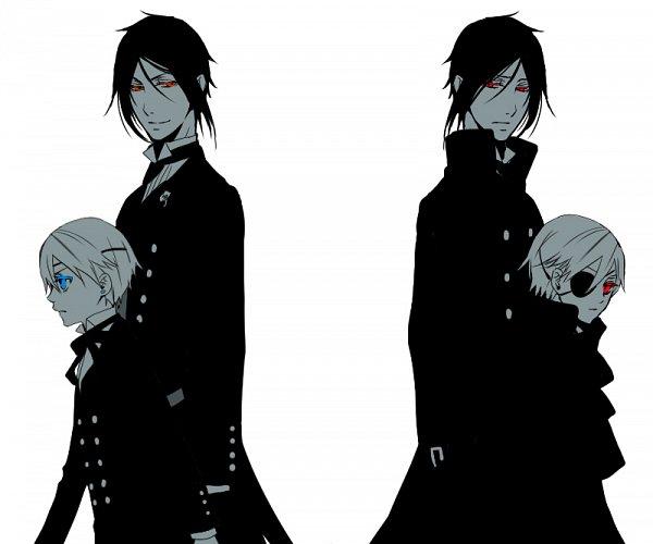 Tags: Anime, Pixiv Id 2582531, Kuroshitsuji, Ciel Phantomhive, Ciel Phantomhive (Demon), Sebastian Michaelis, Walking Past Each Other, Fanart From Pixiv, Fanart, Replacement, Pixiv, Black Butler