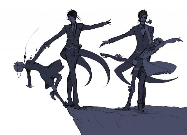 Tags: Anime, Toboso Yana, Kuroshitsuji, Ciel Phantomhive, Claude Faustus, Sebastian Michaelis, Alois Trancy, Ballet, Cliff, Black Butler