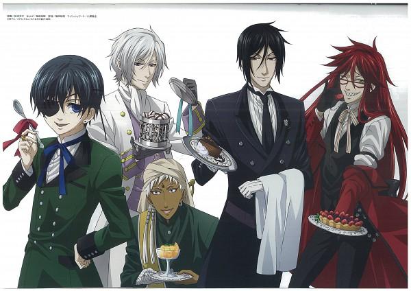 Tags: Anime, Shiba Minako, SQUARE ENIX, Kuroshitsuji, Sebastian Michaelis, Angela/Ash, Agni, Grell Sutcliff, Ciel Phantomhive, Scan, Official Art, Black Butler