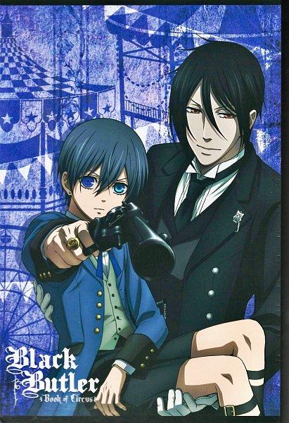 Tags: Anime, Shiba Minako, Kuroshitsuji: Book of Circus, Kuroshitsuji, Notebook (Source), Official Art, Self Scanned, Scan, Cover Image, Black Butler