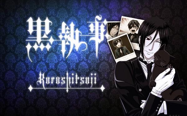 Tags: Anime, Kuroshitsuji, Sebastian Michaelis, Black, Wallpaper, Fanmade Wallpaper, Edited, Black Butler