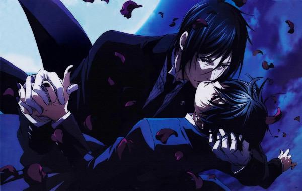 Tags: Anime, Kuroshitsuji, Ciel Phantomhive, Sebastian Michaelis, Ciel Phantomhive (Demon), Scan, Official Art, Black Butler