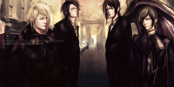 Tags: Anime, Kuroshitsuji, Sebastian Michaelis, Claude Faustus, Alois Trancy, Ciel Phantomhive, Black Butler