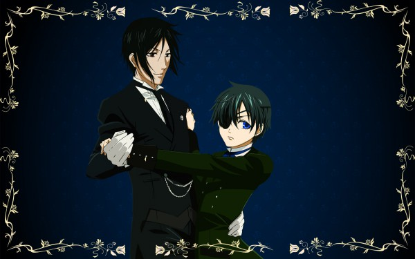 Tags: Anime, Kuroshitsuji, Ciel Phantomhive, Sebastian Michaelis, Edited, Wallpaper, Fanmade Wallpaper, Black Butler