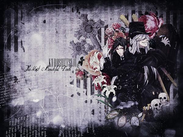 Tags: Anime, Kuroshitsuji, Undertaker, Sebastian Michaelis, Grave, Wallpaper, Edited, Fanmade Wallpaper, Black Butler