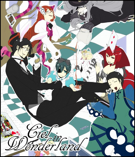 Tags: Anime, Pikeish, Kuroshitsuji, Ciel in Wonderland, Ciel Phantomhive, Madame Red, Sebastian Michaelis, Lau, Undertaker, Grell Sutcliff, White Rabbit (Cosplay), Queen of Hearts (Cosplay), Alice (Alice in Wonderland) (Cosplay), Black Butler