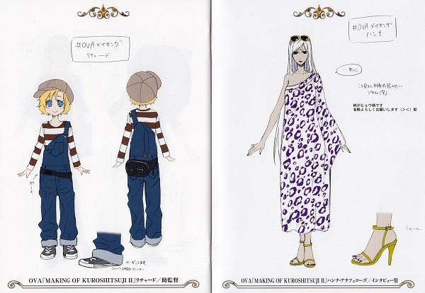 Tags: Anime, Toboso Yana, Kuroshitsuji, Kuroshitsuji II, Luca McCain, Hannah Anafeloz, Leopard Print, Official Art, Character Sheet, Black Butler 2
