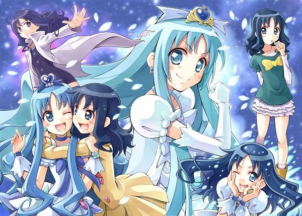 Tags: Anime, Satogo, Heartcatch Precure!, Cure Marine Mirage, Super Cure Marine, Kurumi Erika, Cure Marine, Transformation, Pixiv, Fanart, Fanart From Pixiv