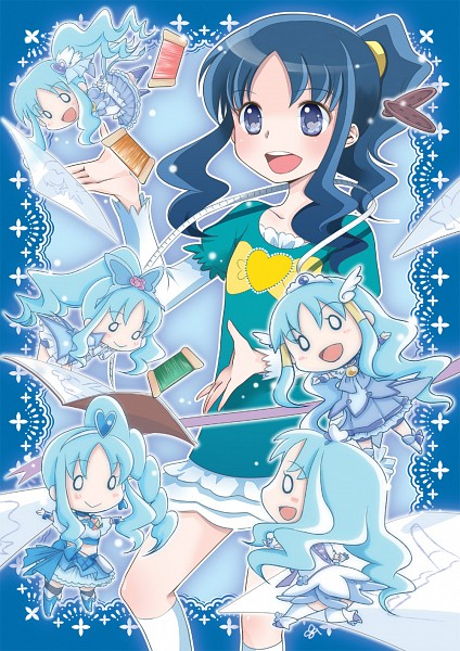 Tags: Anime, Pixiv Id 564187, Heartcatch Precure!, Kurumi Erika, Cure Marine, Cure Beat (Cosplay), Cure Aqua (Cosplay), Cure Beauty (Cosplay), Cure Berry (Cosplay), Fanart, Fanart From Pixiv, Pixiv