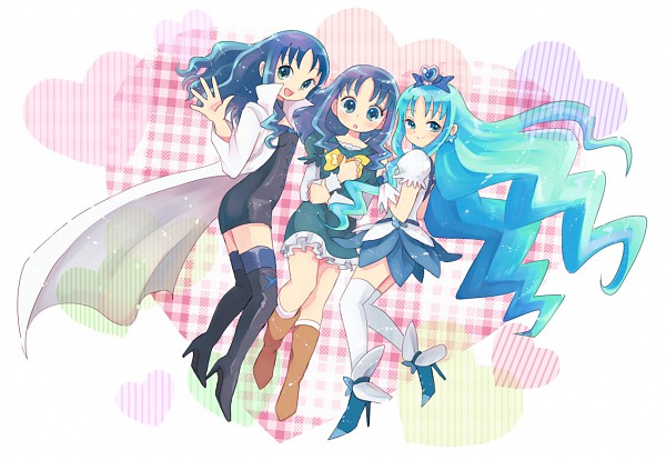 Tags: Anime, Pixiv Id 210786, Heartcatch Precure!, Kurumi Erika, Cure Marine, Cure Marine Mirage, Pixiv, Fanart
