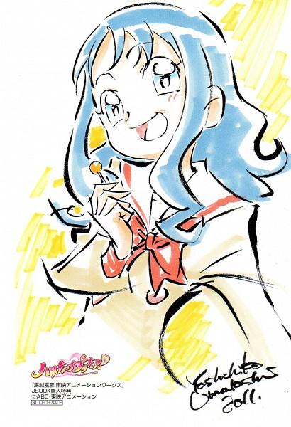 Tags: Anime, Umakoshi Yoshihiko, Heartcatch Precure!, Kurumi Erika, Post Card, Scan, Official Art