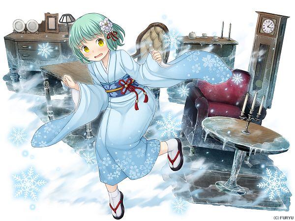 Tags: Anime, Namaru (Summer Dandy), FuRyu, Demi-chan wa Kataritai, MonMusu Harem, Kusakabe Yuki (Demi-chan Wa Kataritai), Official Art