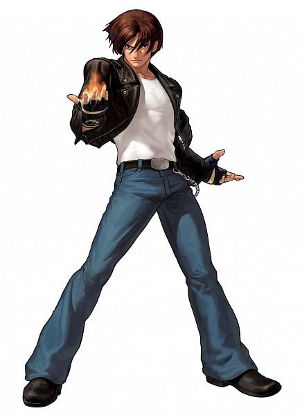 Tags: Anime, Eisuke Ogura, The King of Fighters, Kusanagi Kyou, Leather Jacket, Official Art