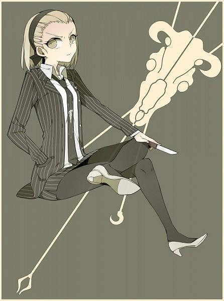 Tags: Anime, Lari, Super Danganronpa 2, Kuzuryuu Fuyuhiko, Striped Skirt, Striped Jacket, Pixiv, Fanart, Fanart From Pixiv