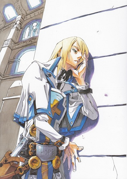 Tags: Anime, Ishiwatari Daisuke, Arc System Works, Guilty Gear 2 -Overture- Material Collection, GUILTY GEAR, Ky Kiske, Scan, Official Art, Mobile Wallpaper