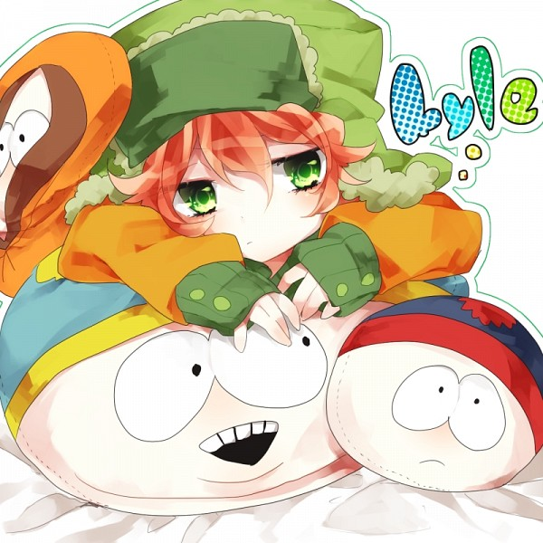 Tags: Anime, Shimogu, South Park, Kyle Broflovski, Kenneth McCormick, Stanley Randall Marsh, Eric Theodore Cartman, Fanart, Team Stan