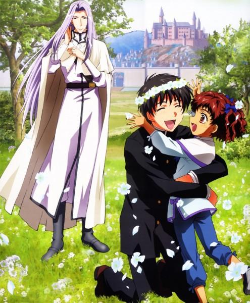 Tags: Anime, Kyo Kara Maoh!, Gunter von Kleist, Greta, Shibuya Yuri, Official Art
