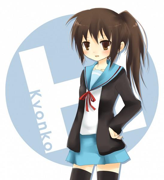 Tags: Anime, Aono (Soraneko), Suzumiya Haruhi no Yuuutsu, Kyon, Pixiv, Fanart