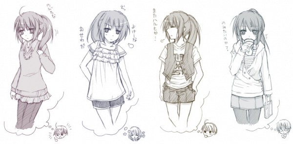 Tags: Anime, Suzumiya Haruhi no Yuuutsu, Suzumiya Haruhi, Kyon, Nagato Yuki, Facebook Cover, Artist Request