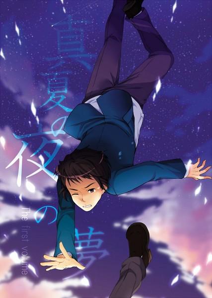 Tags: Anime, Nao (doublexdutch), Suzumiya Haruhi no Yuuutsu, Kyon, Pixiv, Fanart