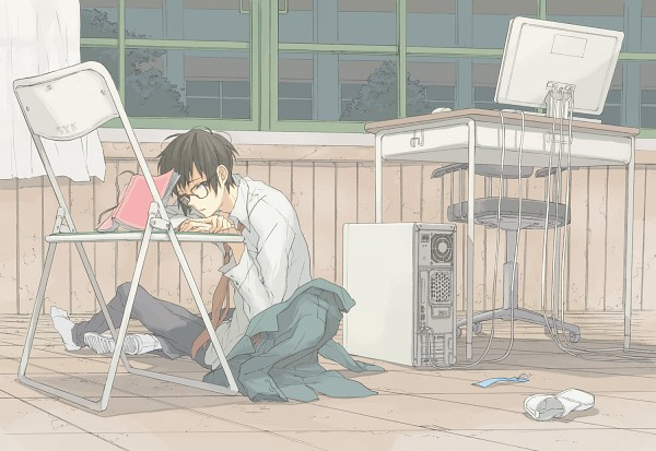 Tags: Anime, Yu-tan, Suzumiya Haruhi no Yuuutsu, Kyon, Pixiv