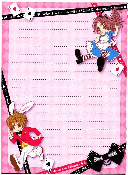Tags: Anime, Minami Kanan, Kyou Koi wo Hajimemasu, Tsubaki Kyouta, Tsubaki Hibino, Kyouta Tsubaki, Alice in Wonderland (Parody), White Rabbit (Cosplay), Alice (Alice in Wonderland) (Cosplay), Stationery, Today We'Ll Start Our Love