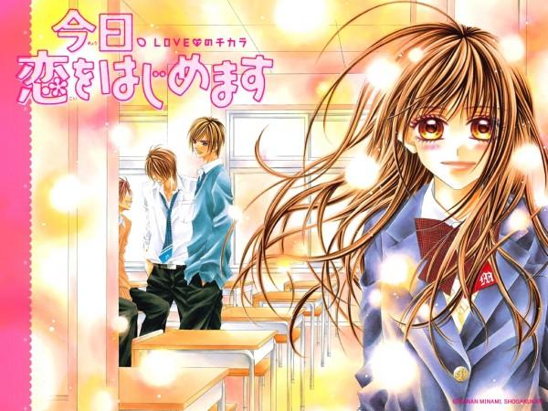 Tags: Anime, Minami Kanan, Kyou Koi wo Hajimemasu, Tsubaki Hibino, Kyouta Tsubaki, Wallpaper, Today We'Ll Start Our Love