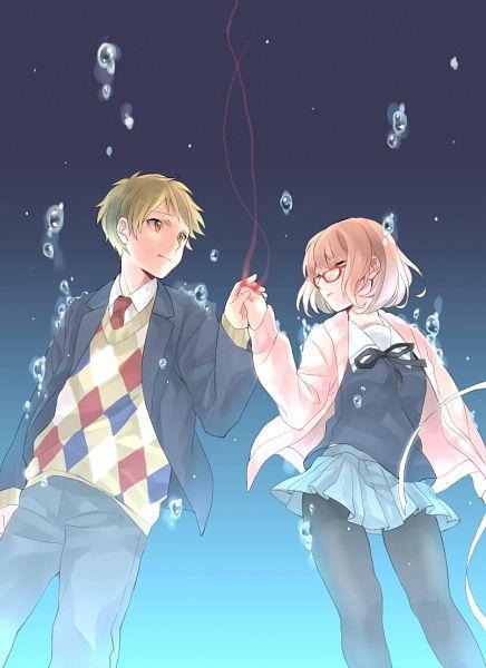 Tags: Anime, Pixiv Id 5877018, Kyoukai no Kanata, Kanbara Akihito, Kuriyama Mirai, Mobile Wallpaper, Beyond The Boundary