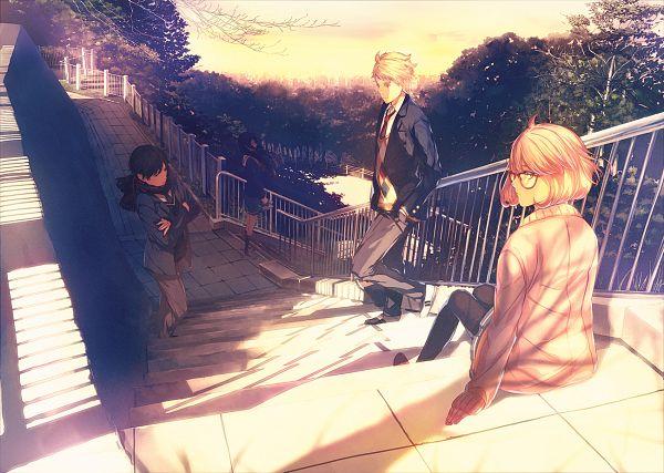Tags: Anime, Porigon, Kyoukai no Kanata, Kuriyama Mirai, Kanbara Akihito, Nase Hiroomi, Nase Mitsuki, Beyond The Boundary