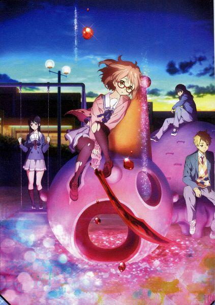 Tags: Anime, Kyoto Animation, Kyoukai no Kanata, Kanbara Akihito, Nase Hiroomi, Nase Mitsuki, Kuriyama Mirai, Scan, Mobile Wallpaper, Official Art, Beyond The Boundary