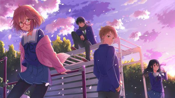 Tags: Anime, Terras, Kyoukai no Kanata, Kanbara Akihito, Nase Hiroomi, Nase Mitsuki, Kuriyama Mirai, Facebook Cover, PNG Conversion, Beyond The Boundary