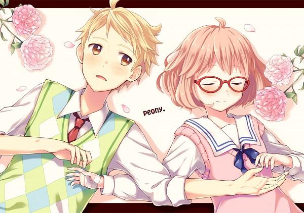 Tags: Anime, Pixiv Id 680483, Kyoukai no Kanata, Kuriyama Mirai, Kanbara Akihito, Beyond The Boundary