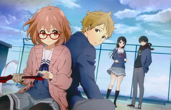 Tags: Anime, Kyoto Animation, Kyoukai no Kanata, Kuriyama Mirai, Kanbara Akihito, Nase Hiroomi, Nase Mitsuki, Official Art, Scan, Beyond The Boundary