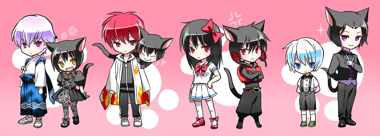 Tags: Anime, Pixiv Id 3529837, Kyoukai no Rinne, Rokumon (Kyoukai no Rinne), Oboro (Kyoukai no Rinne), Rokudou Rinne, Suzu (Kyoukai no Rinne), Shouma (Kyoukai no Rinne), Kain (Kyoukai no Rinne), Ageha (Kyoukai no Rinne), Kurosu (Kyoukai no Rinne), Pixiv, Fanart