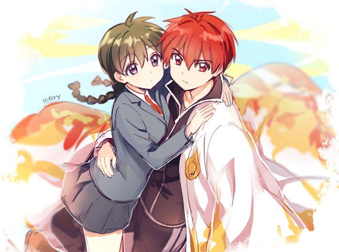 Tags: Anime, mery (dpqpqp550), Kyoukai no Rinne, Rokudou Rinne, Mamiya Sakura, PNG Conversion