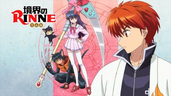 Tags: Anime, Kyoukai no Rinne, Ageha (Kyoukai no Rinne), Rokumon (Kyoukai no Rinne), Rokudou Rinne, Oboro (Kyoukai no Rinne), 1600x900 Wallpaper, Wallpaper