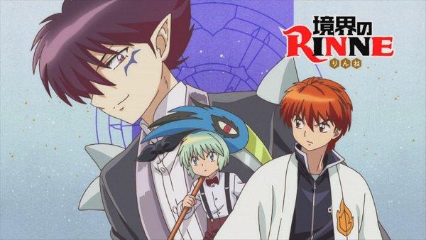 Tags: Anime, Kyoukai no Rinne, Shouma (Kyoukai no Rinne), Masato (Kyoukai no Rinne), Rokudou Rinne, 1600x900 Wallpaper, Wallpaper