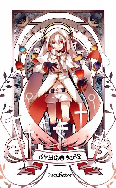 Tags: Anime, Dhiea (Pixiv270545), Mahou Shoujo Madoka☆Magica, Moe Shoujo Ryouiki - Witch/stay night, Kyubee, Fanart, Mobile Wallpaper, Pixiv, Comic Market 80, Scan