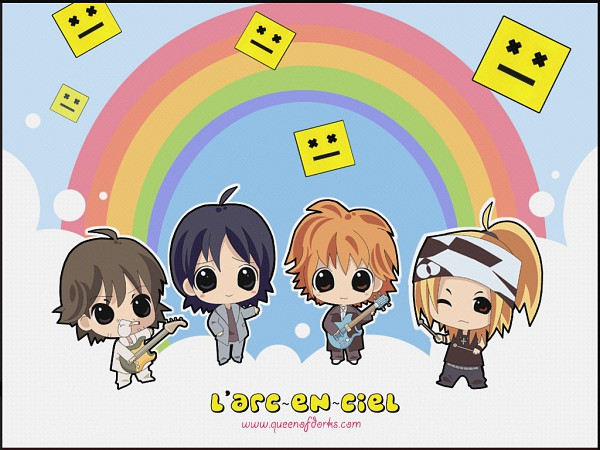 Tags: Anime, Yukihiro, Awaji Yukihiro, Kitamura Ken, Ogawa Tetsuya, Takarai Hideto, Hyde, Rocker, Wallpaper, Fanart, J-Rock, Vamps, L'Arc~en~Ciel