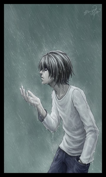 Tags: Anime, Wenqing Yan, DEATH NOTE, L Lawliet, Mobile Wallpaper