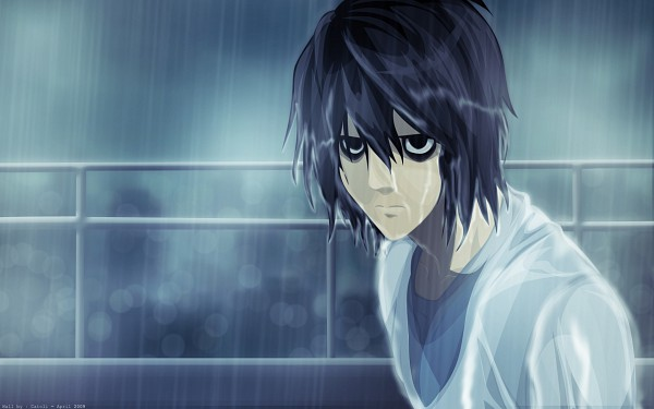Tags: Anime, DEATH NOTE, L Lawliet, Bags Under Eyes, Artist Request, Wallpaper