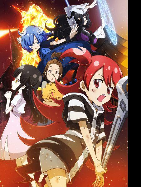 Tags: Anime, Tsuchiya Kei, Studio Gokumi, LAIDBACKERS, Honamanuma Kumi, Mitsuno Harami, Arnelia, Ran (LAIDBACKERS), Kusanagi K., Maisaka Mai, Official Art, Key Visual