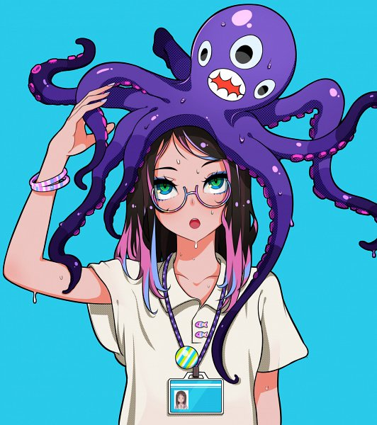 Tags: Anime, LAM, Octopus, Multi-colored Nails, Pins, Pixiv, Original