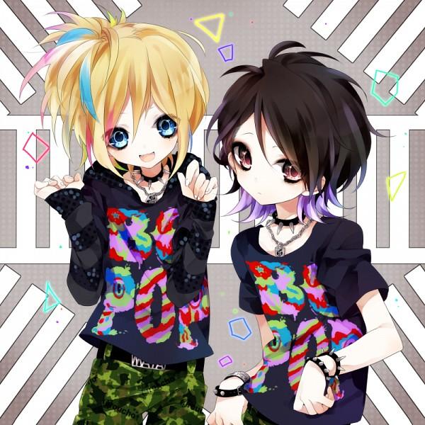 Tags: Anime, Shimogu, Aiji (LM.C), Maya (LM.C), Camouflage Print, J-Rock, LM.C