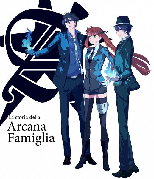 Tags: Anime, Pixiv Id 342834, HuneX, La storia della Arcana Famiglia, Jolly (Arcana Famiglia), Luca (Arcana Famiglia), Felicita, Pixiv, Fanart