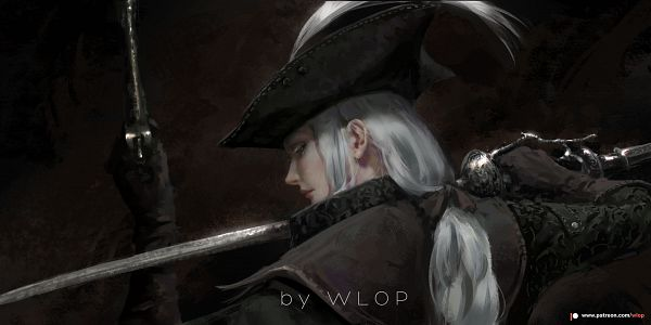 Tags: Anime, wlop, Bloodborne: The Old Hunters, Bloodborne, Lady Maria of the Astral Clocktower, deviantART, Fanart, Fanart From DeviantART