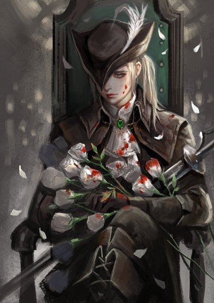 Tags: Anime, Pixiv Id 2904616, Bloodborne, Bloodborne: The Old Hunters, Lady Maria of the Astral Clocktower, Hat Feather, Pixiv, Fanart, Fanart From Pixiv